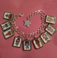 Silver Charm Bracelet LOL L.O.L Doll Eye Spy Series Thrilla Pop Heart