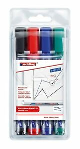 Edding 360 Drywipe Marker Assorted Pack of 4