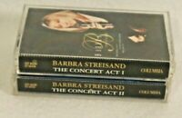 Barbra Streisand-THE CONCERT, ACT 1 & ACT, 2 Cassette tapes