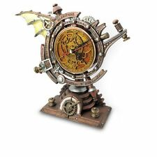 "Alchemy Gothic Steampunk ""Celestial Stormgrave Chronometer"" Resin Desk Clock"