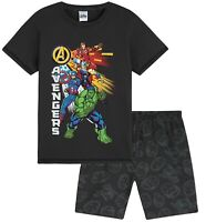MARVEL Avengers Boys Pyjamas, Official Merchandise, Summer Cotton Short Kids PJs