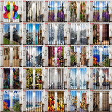 Scenery 3D Window Curtain For Living Room Kitchen Curtains Drapes