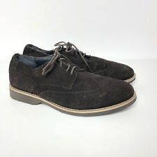 Joseph Abboud Suede Wingtip Oxfords Shoes Lace Up Brown Men's 8