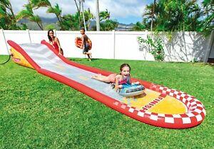 Intex Inflatable Racing Fun Slide Surfer Riders Kids 6y+ Outdoor Water Toy 5.6m