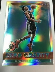 De'Aaron Fox 2019-20 Panini NBA Hoops Premium Zero Gravity Silver Prizm