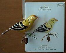 New ListingNew Hallmark Goldfinch #4 Beauty of Birds Series~2008 Christmas Ornament +Bonus