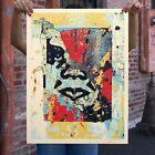 "Shepard Fairey ""Enhanced Disintegration Blue"" 2019 Print Signed X/350 Obey Giant"
