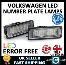 VW PASSAT CC SMD LED NUMBER PLATE LIGHTS LAMPS UPGRADE BULB XENON WHITE