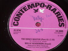 "Willie Henderson:  The Dance Master   UK  EX+  reissue   7"""
