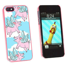 Flying Pig - When Pigs Fly Hard Protective Case for Apple iPhone 5 5S - Pink