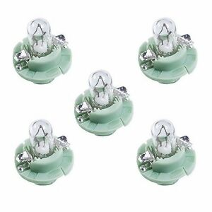 5 For Audi A4 VW Instrument Panel Bulbs Green Base Clear Glass 893919040A
