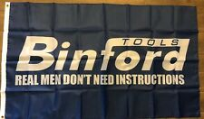 Binford Tools 3x5 Flag Banner Real Men Don't Heed Instructions Man Cave