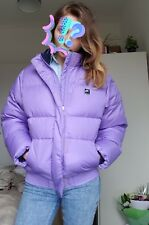 NIKE AIR duck down feathers puffa puffer bomber lilac purple coat jacket M