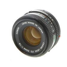 Canon 50mm F/1.8 FD Mount Standard/Normal Lens {52}, Black - UG