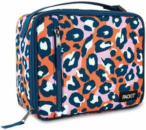 PackIt Freezable Classic Lunch Box Wild Leopard & Gray Venom Ice Pack Food Tote
