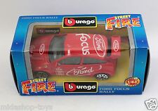 [PG3-18] *RARA* BBURAGO BURAGO 1/43 STREET FIRE #4174 FORD FOCUS RALLY RED ROSSA