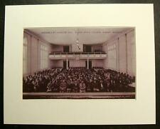 ASSEMBLY AT CAROLINE HALL, ALBANY STATE COLLEGE, ALBANY, GEORGIA, GA., Print