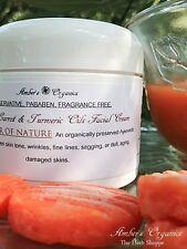 Organically Preserved Turmeric & Carrot Oil Facial Correcor Cream Scar/Damaged