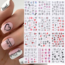 12pcs Valentines Love Letter Flower Decal Nail Art Decoration Water Sticker Tips