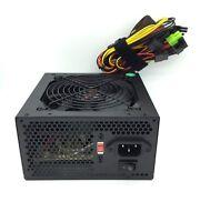 680 Watt 12CM Fan w/ Guard Grill ATX Power Supply Unit 20/24 Pin SATA Molex Pcie