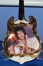 ELVIS PRESLEY-ENTERTAINER of the CENTURY GUITAR SHAPED PLATE- 1974 THE SUPERSTAR