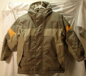 Columbia Olive Green Down Hooded Winter Ski Snowboard Coat/Jacket Youth Size 8 S