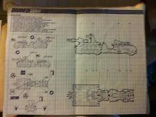 Vintage 1987 GI Joe Marauder Vehicle Blueprints, Excellent/Very Good condition!