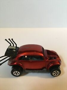 Rare Johnny Lightning Topper VW Bug Bomb Red Good Year BlackWall No Front Engine