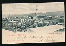 Bosnia Gruss aus BANJALUKA Market 1899 u/b PPC faults