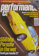 Performance Car 12/1996 featuring Maserati, Aston Martin, Porsche GT2, Alpina