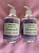 Traders Joe Kitchen  Hand Soap 17FL Oz Lemon & Lavender Scent Lot Of 2