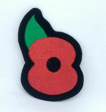 Poppy Union Jack Iron or Sew on Embroidered Patch