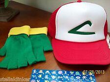 POKEMON GO  Hat & Glove Set  Ash Ketchum Trainer Costume -