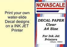 Decal Paper Clear A4Size INK-JET Printer N304-5 (5 Sheets)