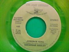 "Savannah Ashley Jukebox King / You Never Told Me 1988 7"" PROMO 45 Yellow Vinyl"