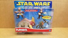 "Star Wars Playskool Action Figures ""Arena Adventure"" with Jedi Action 2002"