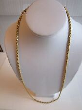 """ERWIN PEARL GOLD PLATED ROPE CHAIN NECKLACE - 28"""" LONG - 29 GRAMS - TUB OFCC"""