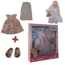 Zapf 827161 BABY born Boutique Deluxe Braut Outfit 43cm Hochzeitskleid für Puppe
