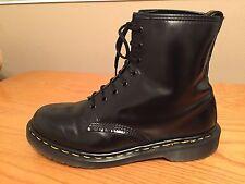Vintage Dr Martens 1460 Black leather boots UK 10 EU 45 punk skin goth England