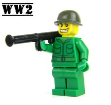 US Army WW2 minifigure Soldier made with real LEGO® Bazooka
