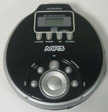 Audiovox Portable Cd Player Dmp8733 Mp3 Anti-skip Protec Black Guc Working Cond