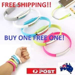 USB Charging Data Sync Micro B to USB Bracelet Wrist Cables For S6/7,Note6/ 7 MI