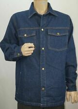 NWT Duke Haband Denim Wool Lined Shirt Jean Jacket Small