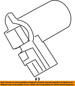 FORD OEM-Vapor Canister Vent Valve Control Solenoid 9U5Z9F945C