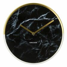 Karlsson Wall Clock Marble Delight in Gold and Black Face