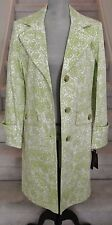 Green and White GALLERY Spring Coat, Size S