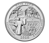 USA - Quarter Dollar 2020 S (San Francisco) - Weir Farm / Connecticut