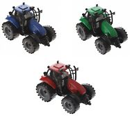 Small Kids toy Tractor 3 Colours Tractor Toy Farm 12cm Friction Power Play Set