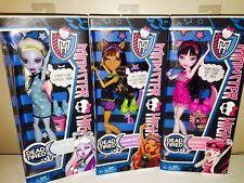"Monster High DEAD TIRED DRACULAURA, CLAWDEEN & ABBEY ""NIB"" ~ Retired"