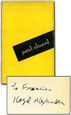 Paul ELUARD, Lloyd Alexander / Selected Writings Signed 1st Edition 1951